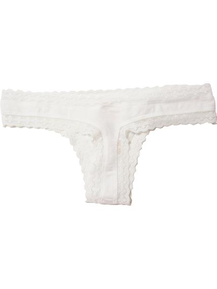 Chiloti dantela alba Victoria's Secret