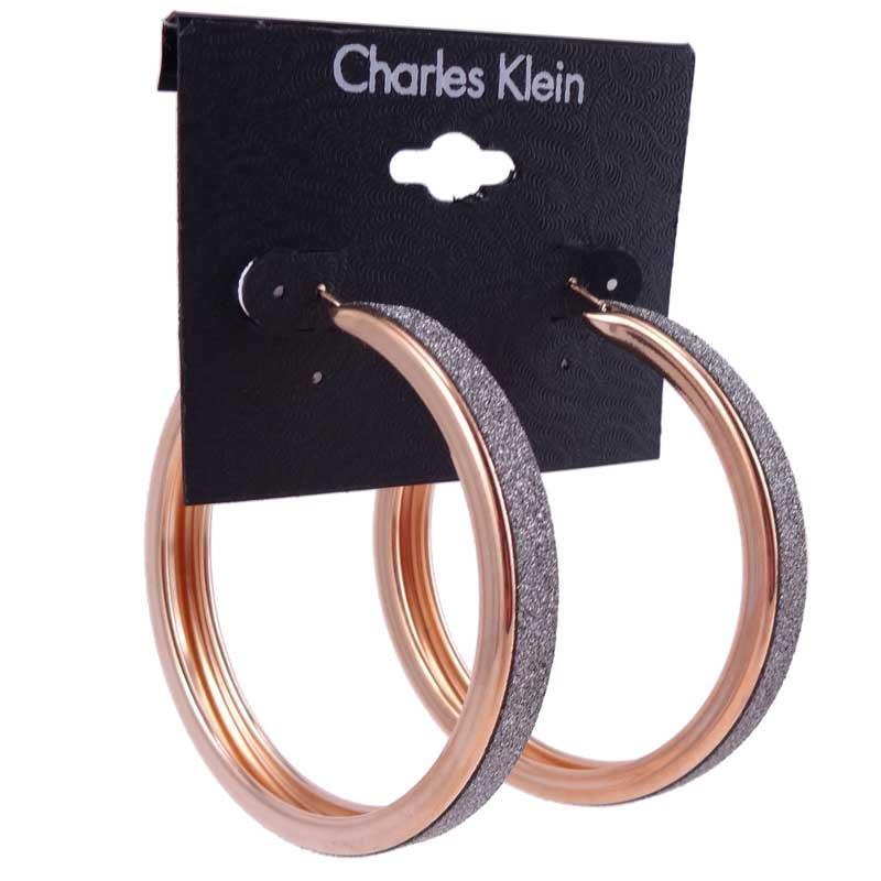 Cercei aurii rotunzi Charles Klein 1