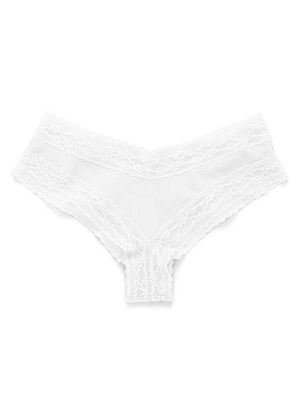 Chiloti dantela Victoria's Secret Cheeky White