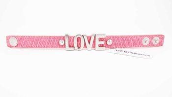 Bratara BCBGeneration Affirmation bracelet LOVE roz 1