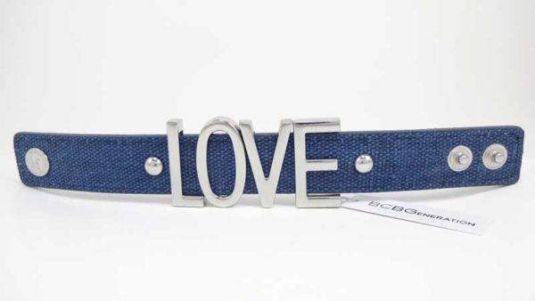 Bratara BCBGeneration Affirmation bracelet LOVE albastra