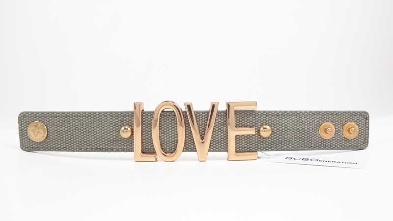 Bratara BCBGeneration Affirmation bracelet LOVE gri