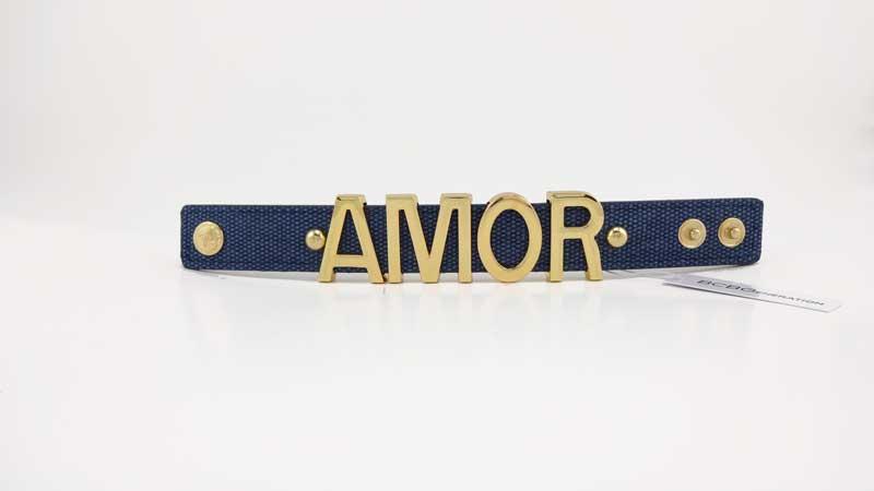 Bratara BCBGeneration Affirmation bracelet AMOR albastra