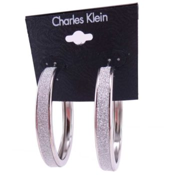Cercei argintii rotunzi Charles Klein 2
