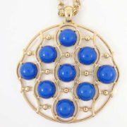 Colier LOFT auriu cu sfere albastre