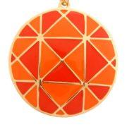 Colier LOFT cu model portocaliu si rosu
