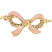 Colier LOFT auriu cu fundite roz si cristale