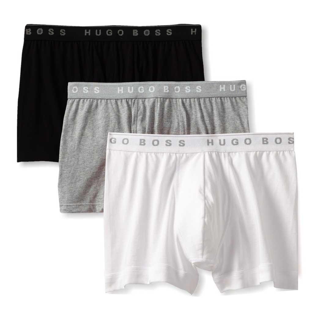 Set 3 perechi chiloti barbatesti Hugo Boss boxer shorts gri/negru/alb