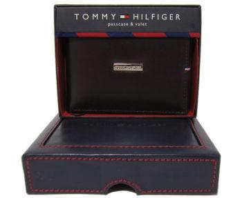 Portofel piele maro inchis bilfold Tommy Hilfiger