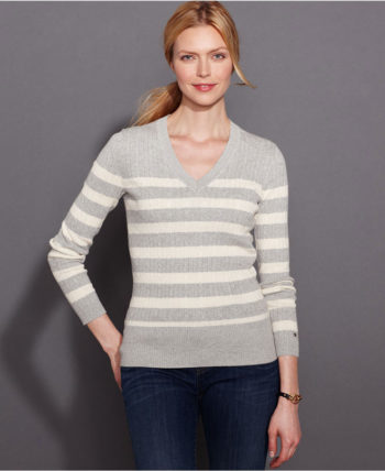 Pulover dama Tommy Hilfiger light grey heather