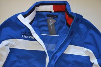 Geaca barbateasca Tommy Hilfiger Yachting Jacket albastra – detail