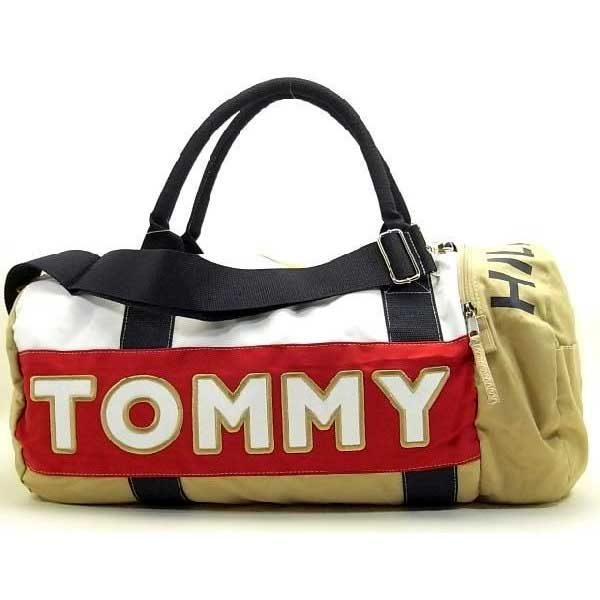 Geanta mare sport Tommy Hilfiger - alb/bej/rosu/bleumarin