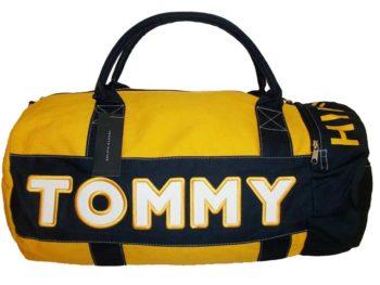 Geanta mare sport Tommy Hilfiger - galben/bleumarin
