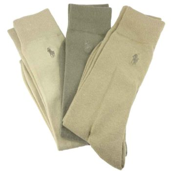 Set 3 perechi ciorapi barbatesti Polo Ralph Lauren bej si khaki