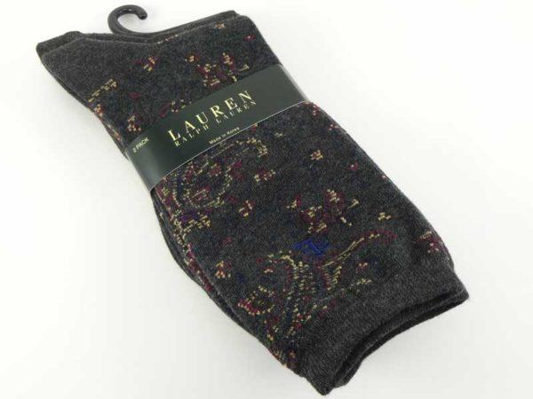 Set 2 perechi ciorapi gri Lauren Ralph Lauren