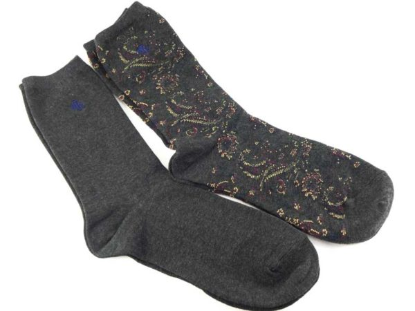 Set 2 perechi ciorapi gri Lauren Ralph Lauren detaliu