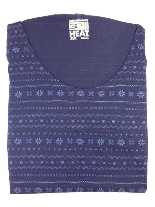 Bluza de corp termica 32 Degrees Heat Brey Snowflakes