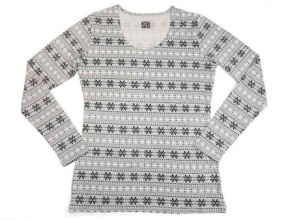 Bluza de corp termica 32 Degrees Heat - grey snowflakes