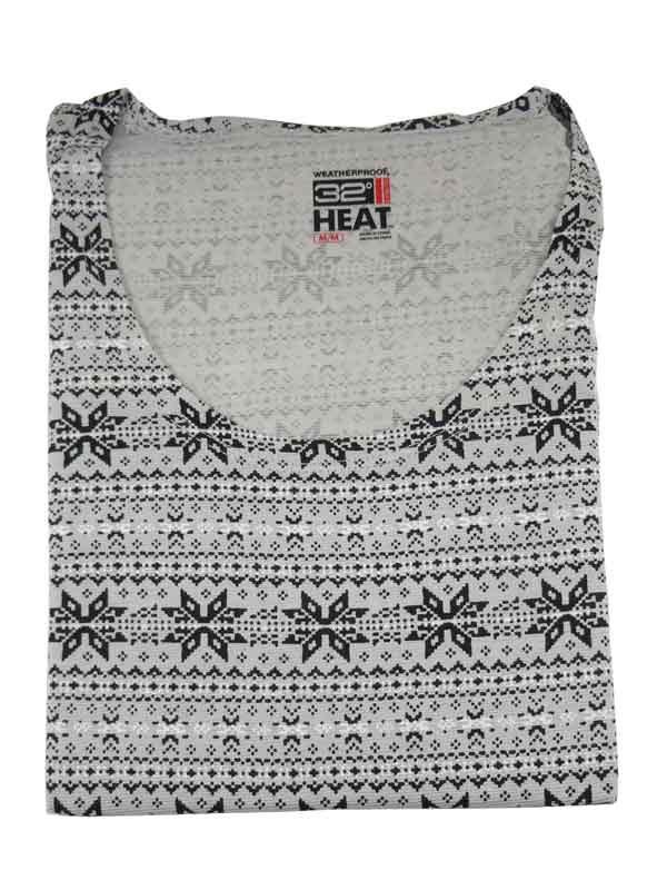 Bluza de corp termica 32 Degrees Heat grey snowflakes