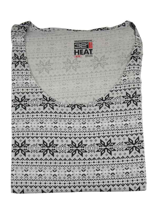 Bluza de corp termica 32 Degrees Heat grey snowflakes