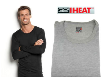 Bluza de corp termica 32 Degrees Heat Heather Grey