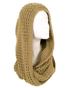 Modena hood & loop scarf bej