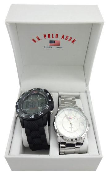 Set 2 ceasuri US Polo ASSN in cutie cadou