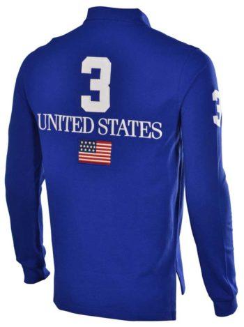 Bluza cu maneca lunga Polo Ralph Lauren USA flag