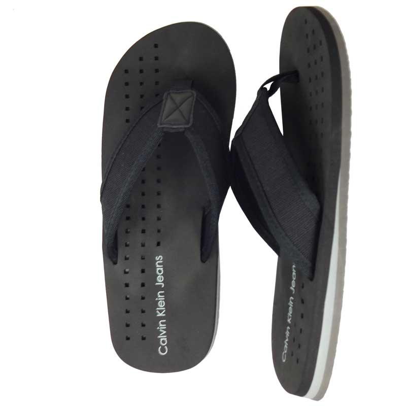Papuci plaja Calvin Klein negri