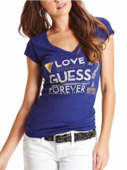 Tricou dama Guess Melody Tee albastru