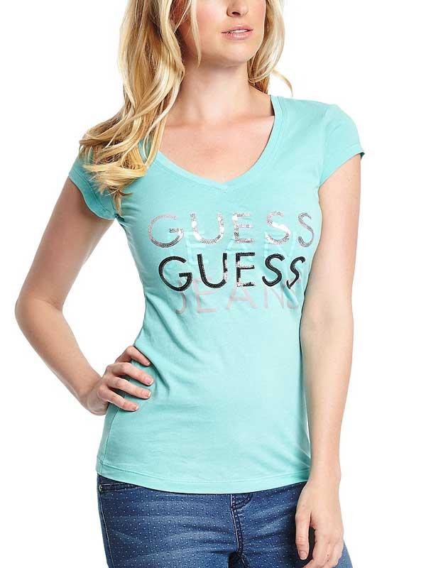 Tricou dama Guess Renna Tee verde
