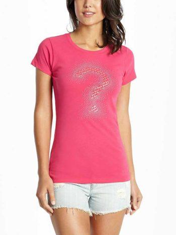 Tricou dama Guess Maxine Logo Tee roz