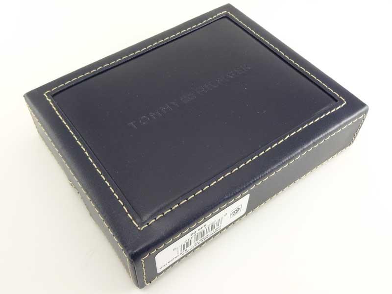 Portofel Tommy Hilfiger din piele neagra in cutie cadou