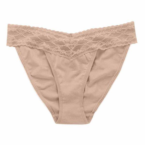 Chiloti dantela Victoria's Secret Bikini Panty bej