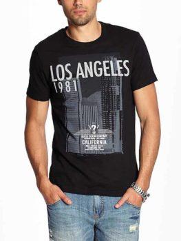 Tricou Guess negru pentru barbati