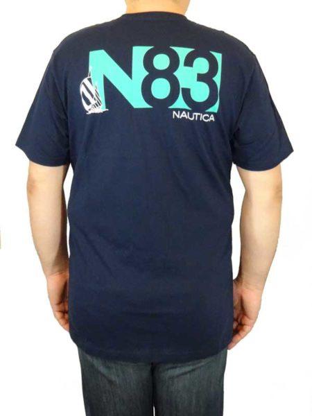 Tricou bleumarin Nautica N83 - spate