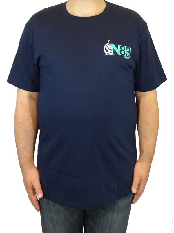Tricou bleumarin Nautica N83 - fata