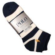 Set 4 perechi sosete sport Polo Ralph Lauren bleumarin si alb