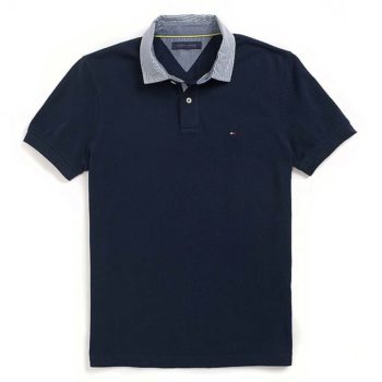 Tricou barbati Tommy Hilfiger custom fit polo bleumarin