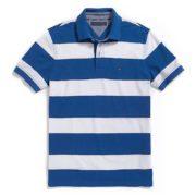 Tricou barbatesc Tommy Hilfiger custom fit polo albastru cu alb