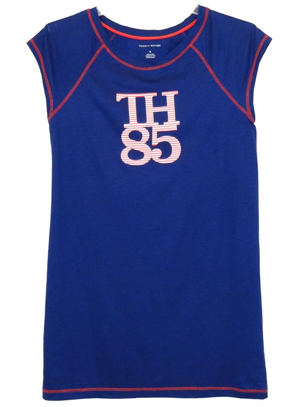 Camasa de noapte albastra Tommy Hilfiger