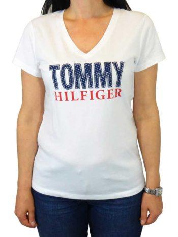 Tricou Tommy Hilfiger alb