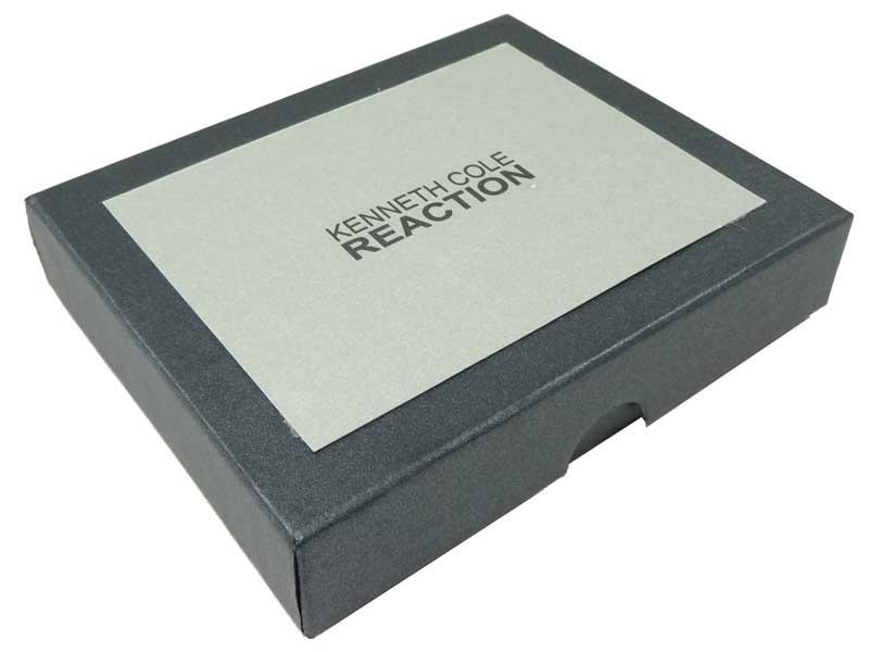 Portofel Kenneth Cole din piele neagra - cutie cadou