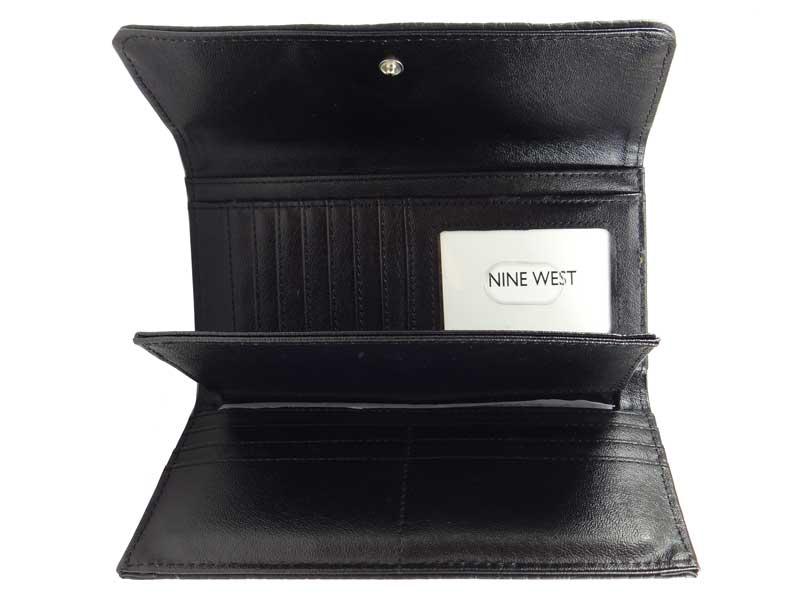 Portofel dama Nine West negru - interior