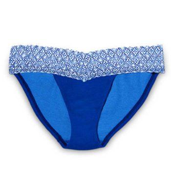 Chiloti dantela Victoria's Secret Bikini Panty albastru