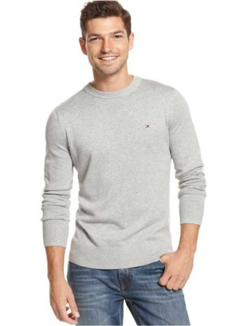 Pulover barbatesc Tommy Hilfiger Grey Heather
