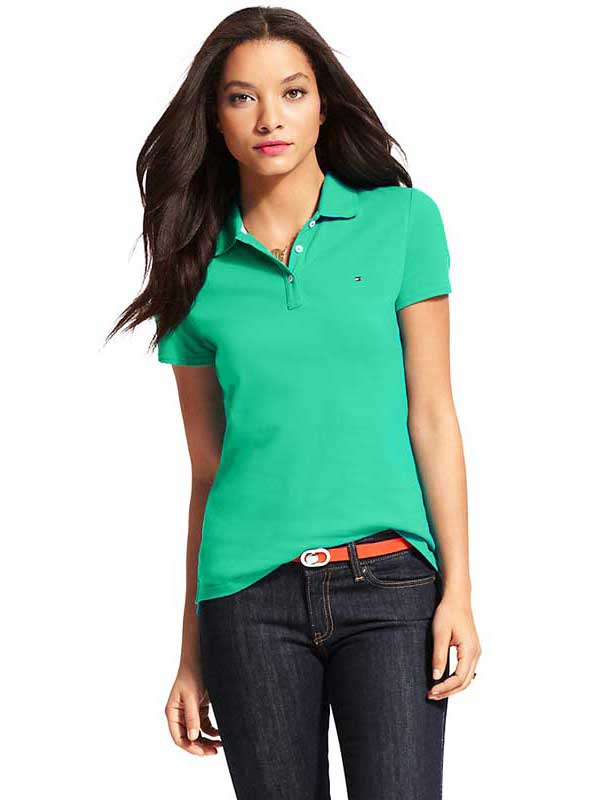 Bluza polo Tommy Hilfiger verde - model