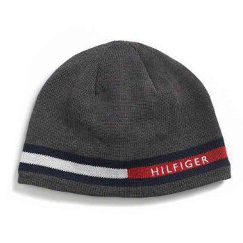 Caciula barbati Tommy Hilfiger Flag Knit gri