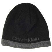 Caciula reversibila neagra/gri Calvin Klein modern logo