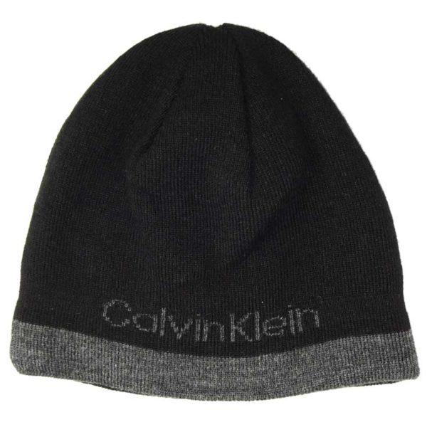 Caciula barbati Calvin Klein modern logo neagra